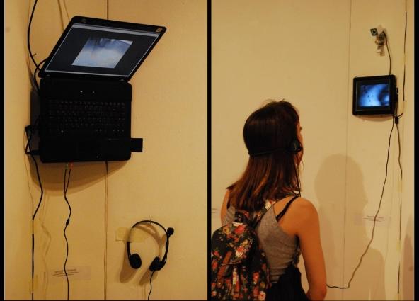 13 karl & rene - μicrΟrgiastic subjective ritual (installation, laptop, tablet, headphones)