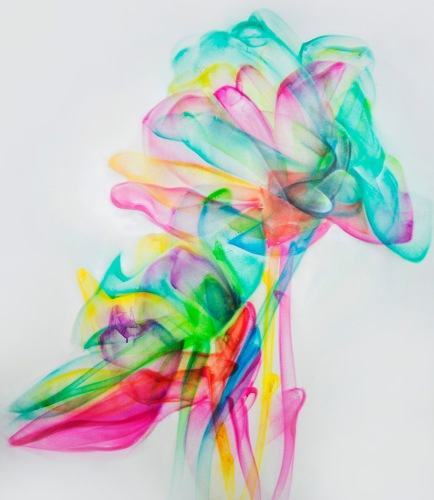 'Fresh Bloom' 120 x 140 cm Σπρέυ σε καμβά,2019