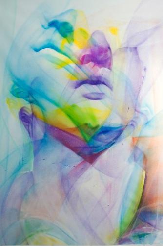 'Lively' 120 x 150 cm Σπρέυ σε καμβά, 2019